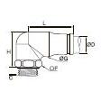3879/3979 Компактный угловой фитинг с ниппелем, наружная резьба BSPP