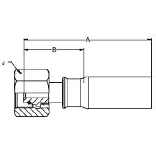 1C9JX – Метрический внутренний вертлюжного соединения тяжелой серии с кольцевым уплотнением
