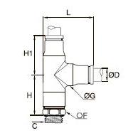 3893/3993 Т-образный фитинг с боковым отводом и ниппелем, наружная резьба BSPP и метрическая