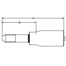 1YM2X / 1YMJX – Трубный штуцер высокого давления с метрической левой резьбой