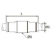 3806/3906 Прямой соединитель для трубок равного диаметра