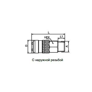 Ниппели - с клапаном; латунь/сталь