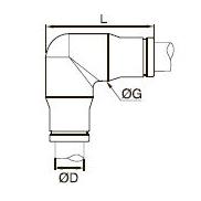 3802/3902 Угловой соединитель для трубок равного диаметра