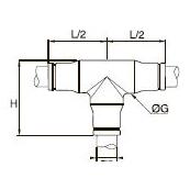 3804/3904 Т-образный соединитель для трубок равного диаметра