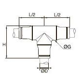 3804/3904 Т-образный соединитель для трубок равного диаметра Дюймовый размер