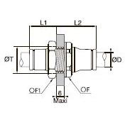 3816/3916 Переходной соединитель для трубок равного диаметра