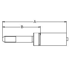 1YA5X – Трубный штуцер высокого давления с левой резьбой UNF (унифицированная тонкая резьба)