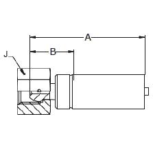 1C35X – Метрический внутренний вертлюжного соединения легкой серии