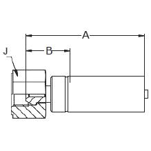 1925X – Внутренний вертлюжного соединения по стандарту BSP (конус 60°)