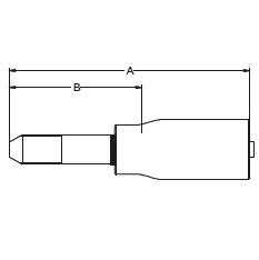 1Y4CX – Трубный штуцер высокого давления с левой резьбой UNF (унифицированная тонкая резьба)