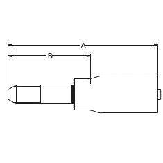 1YMCX – Трубный штуцер высокого давления с левой метрической резьбой