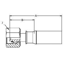 1C9JX / 1C9CX – Метрический внутренний вертлюжного соединения тяжелой серии с кольцевым уплотнением
