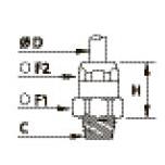 6105 Ввертный штуцер, наружная резьба BSPT и коническая метрическая резьба