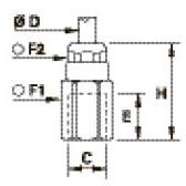 6114 Ввертный штуцер, внутренняя параллельная метрическая резьба
