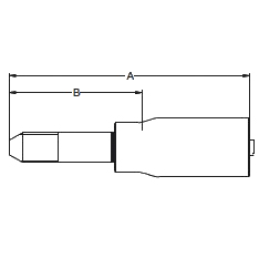 1Y42X/6Y4HX – Трубный штуцер высокого давления с левой резьбой UNF (унифицированная тонкая резьба)