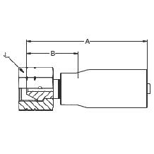 1922X – Внутренний вертлюжного соединения по стандарту BSP (конус 60°)