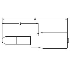 1YM2X – Трубный штуцер высокого давления с левой метрической резьбой