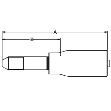 1Y42X / 6Y4WX – Трубный штуцер высокого давления метрический с резьбой UNF