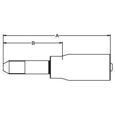 1Y42X – Трубный штуцер высокого давления с левой резьбой UNF (унифицированная тонкая резьба)