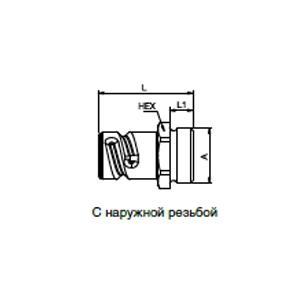 Ниппели - без клапана; латунь/сталь