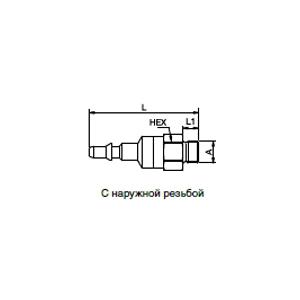 Ниппели - с клапаном; нержавеющая сталь