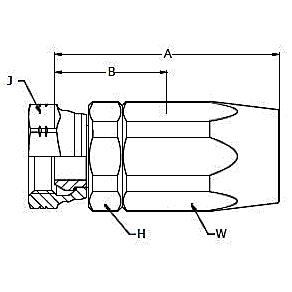 292NC – Внутренний вертлюжного соединения по стандарту BSP (конус 60°)