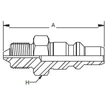 HP006 – Штуцер без обратного клапана