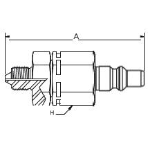 HP006 – Штуцер с обратным клапаном
