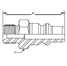 HP010– Штуцер без обратного клапана