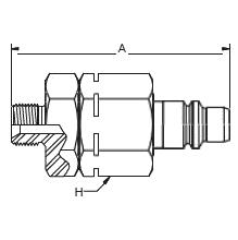 HP010 – Штуцер с обратным клапаном