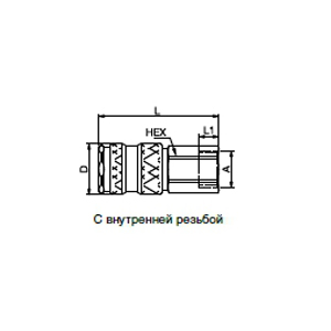 Муфты - с плоским уплотнением; нержавеющая сталь