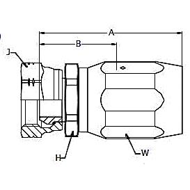 292EJ – Внутренний вертлюжного соединения по стандарту BSP (конус 60°)