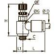 7660 Миниатюрный регулятор расхода на выхлопе, наружная резьба BSPP и метрическая