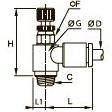 7662 Двунаправленный миниатюрный регулятор расхода, наружная резьба BSPP и метрическая