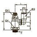 7040 Компактный регулятор расхода на выхлопе с поворотным соединением, наружная резьба BSPP