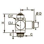 7130 Регулятор расхода на выхлопе, наружная резьба BSPP и метрическая