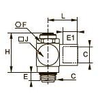 7140 Регулятор расхода на выхлопе, наружная/внутренняя резьба BSPP и метрическая