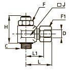 7160 Регулятор расхода с латунным обжимным фитингом на выхлопе, наружная резьба BSPP