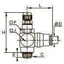 7680 Компактный регулятор расхода, наружная резьба BSPP