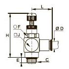 7180 Миниатюрный регулятор расхода на выхлопе, наружная резьба BSPP и метрическая
