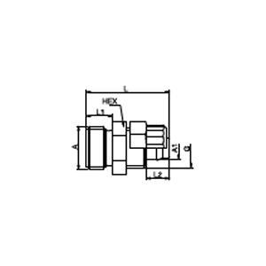 Пластмассовый резьбовой соединитель; CHEM