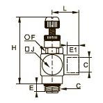 7190 Миниатюрный регулятор расхода на выхлопе, наружная/внутренняя резьба BSPP и метрическая
