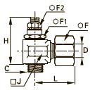7762 Регулятор расхода на выхлопе, с латунным обжимным фитингом, наружная резьба BSPP