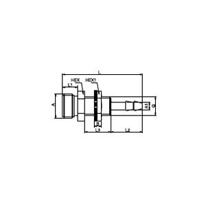 Соединение для стандартных шлангов панельного монтажа; POM