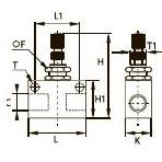 7170 Щитовой продольный регулятор расхода, внутренняя резьба BSPP и метрическая