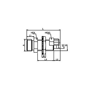 Соединение для пластмассовых шлангов панельного монтажа; CHEM