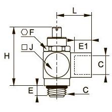 7810 Регулятор расхода на выхлопе, наружная/внутренняя резьба BSPP и метрическая