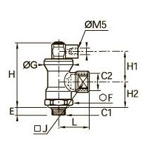 7881 Блокирующий фитинг, наружная/внутренняя резьба BSPP