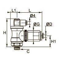 7886 Блокирующий фитинг, наружная/внутренняя резьба BSPТ