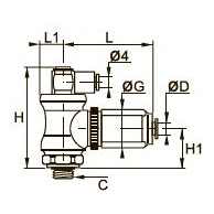 7883 Блокиратор/регулятор расхода, наружная резьба BSPP